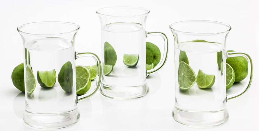 Limes through water